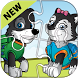 Paw Puppy Patrol Puzzles by Learning English Games for kids