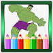 Super Hero Coloring Pages by Coloring World for Kids