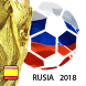 Russia 2018 World Cup Football. Spanish version by Travel arround fun with dog apps
