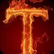 Fiery letter T LWP by LivelyPapir