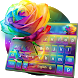 Colorful Rose Keyboard Theme by Keyboard Design Yimo