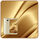 Gold silk luxurious theme by Neon launcher theme - wallpapers