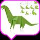 Dinosaur Origami Tutorial by moohammad