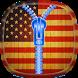 USA Flag Zipper Lock Screen by SOLITUDE