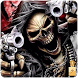 Death Skull Gun zipper lock screen