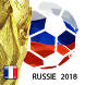 Russia 2018 World Cup football. French version by Travel arround fun with dog apps