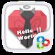Hello World GO Launcher Theme by ZT.art
