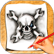 How To Draw Skull Tattoo by seeporn goinja