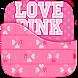 Love Pink Keyboard Theme by Golden Studio