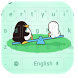 Cartoon Penguin Bear Keyboard by beautifulwallpaper