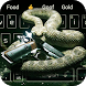 Rattlesnake and gun keyboard theme by Cool Theme Creator