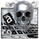 Silver Skull Keyboard Theme by Keyboard Theme Factory