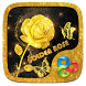 Golden Rose 3D Go Launcher Theme by ZT.art