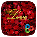 Rose Love GO Launcher Theme by ZT.art