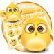 lovely yellow bird keyboard by artant
