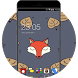 Cartoon Fox Theme: Cute animal Screensaver by Mobo Theme Apps Team