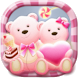 Cute Bear love honey with Pink hearts DIY Theme by Best theme workshop