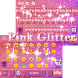 Pink Glitter Keyboard Theme by Fantasy Keyboard studio