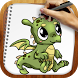 Draw Dragons and Beasts by Rainbow Sketching Apps