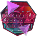 Pink Purple Polygon Keyboard by Super Cool Keyboard Theme