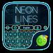 Neon Lines GO Keyboard Theme by Keyboard Fashion New