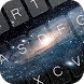 Galaxy Space Keyboard Theme by KeyboardThemez