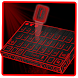 red laser tech keyboard future neon light by Keyboard Theme Factory