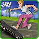 Crazy skater girl skateboard by Kick Time Studios