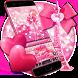 Pink glitter lovely paris keyboard by artant