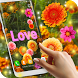 Autumn Flowers Live Wallpaper by 3D HD Moving Live Wallpapers Magic Touch Clocks