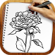 Draw Tattoo Flowers by Rainbow Sketching Apps