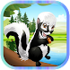 Black squirrel run by janah