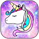 Galaxy Unicorn Shiny Glitter Theme by The Best Android Themes
