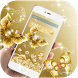 HD Gold Butterfly Rose theme by Theme and keyboard design team