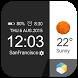 Flat&Card Style weather clock by HD Widgets Dev Team