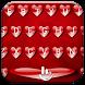 Keyboard Theme V Love Hearts by Luklek