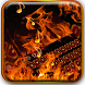 Burning flame keyboard by Super Keyboard Theme