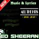 Ed Sheeran Song & Lyrics 2017 by Dentist musica nino
