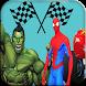 Spider VS Superheroes Car Race