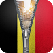 belgium flag zipper lock by Group Support APPS