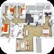 3D House Floor Plans by Elfarras