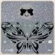 Clavier Argent Papillon et Émoticône by Deluxe Company