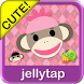 Sock Monkey Pink Go SMS Theme by Jellytap