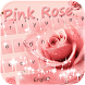 Pink rose Emoji Keyboard theme by Fantasy Keyboard studio