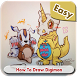How to Draw Easy Digimon by Tsugetan