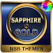 Sapphire Gold Theme for Xperia by NotSoBright