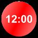 Circle Digital Clock Widget by A.I.O Studio