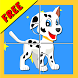 Twin Paw Puppy Puzzle Kids by KalukuStudio