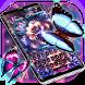 Neon flower butterfly keyboard theme by JeffMStocks