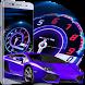 Speedometer Car Theme: Speedy, lighting racing car